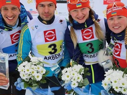 Українські біатлоністи взяли два «золота» наетапі Кубка IBU