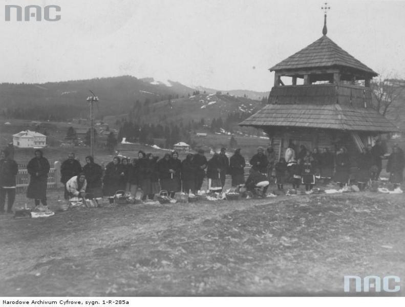 Посвячення пасок у Ворохті. 1933 рік