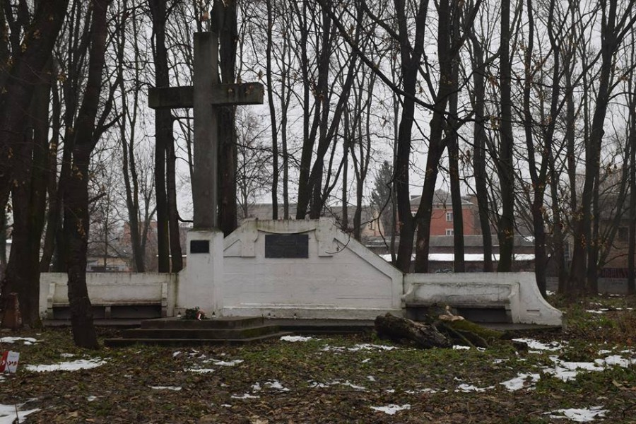 Пам'ятник померлим військовополоненим та інтернованим у Косачові. 1922 р. Фото Анджея Леуша 2016 р.