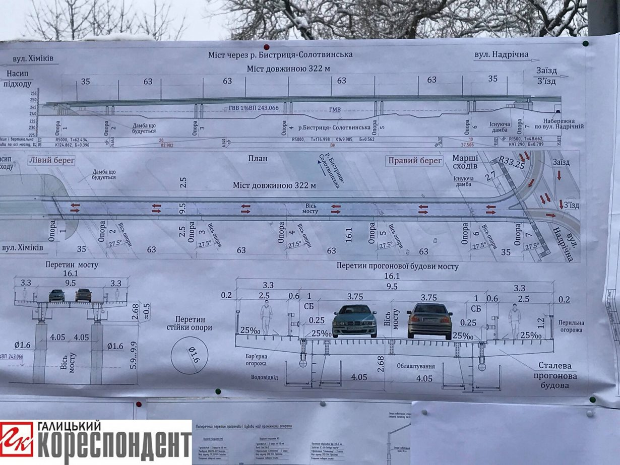 Одностороння Надрічна: у Франківську пояснили, що змінить другий міст (фото+відео)