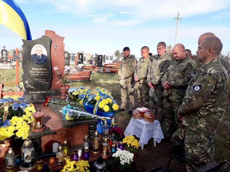 На Прикарпатті освятили надмогильний пам'ятник загиблого правоохоронця